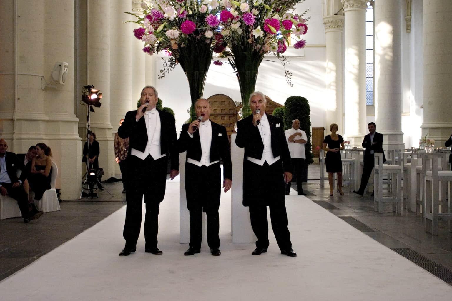 De Drie Baritons tijdens de huwelijksceremonie, wedding en Planning, Weddingplanner, fotocredits Sjouke Dijkstra