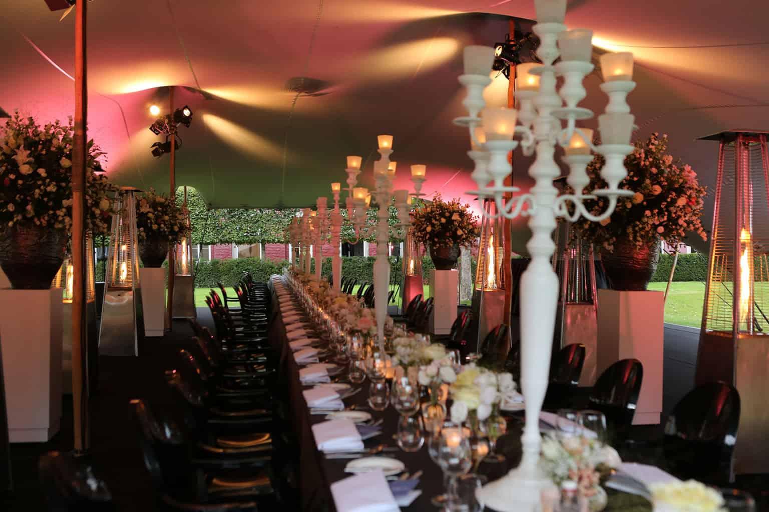 Sitdowndiner op je huwelijk,Trouwen op een kasteel, Kasteel de Hoogenweerth, wedding en planning, weddingplanner