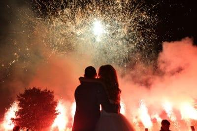 Vuurwerk op je huwelijk, trouwen, bruiloft regelen, wedding en planning, weddingplanner