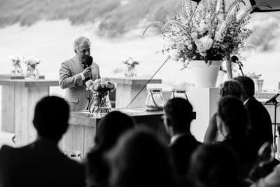Huwelijksceremonie op het strand, wedding en planning, weddingplanner, foto Evert Doorn fotografie